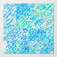 Blue Green Delight (Squares) Canvas Print