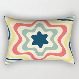The 50s Lone Blue Star Rectangular Pillow