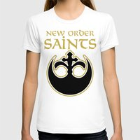 new order T-shirts featuring New Order Saints by Ant Atomic