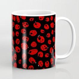 Ladybugs (Red on Black Variant) Coffee Mug