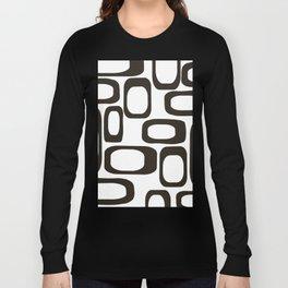 Mid Century Modern Shapes Black And White #society6 #buyart Long Sleeve T-shirt