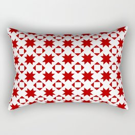 Star quilt square red Rectangular Pillow