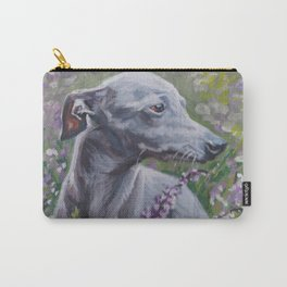 Italian Greyhound dog art from an original painting by L.A.Shepard Carry-All Pouch
