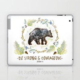 """Bear """"Be Strong & Courageous"""" Joshua 1:9 Laptop & iPad Skin"""