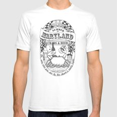 Maryland Crabs & Beer White Mens Fitted Tee SMALL