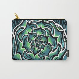 Succulents and Black Lace | Nicole B Roberts Carry-All Pouch