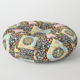 Boho Chic Patchwork Floor Pillow