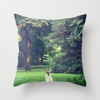 central park Throw Pillows featuring Central Park by cuteladybug