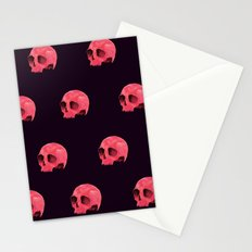 Pink Skull Pattern Stationery Cards