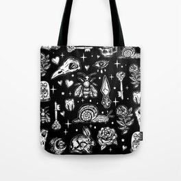 Full Of Secrets Witchy Goth Punk Pattern Tote Bag