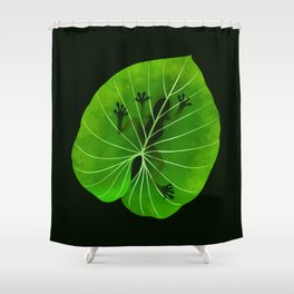 Tropical Frog On A Leaf Shower Curtain