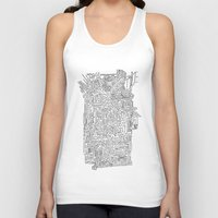 blueprint Tank Tops featuring Home Blueprint by Max Bayarsky