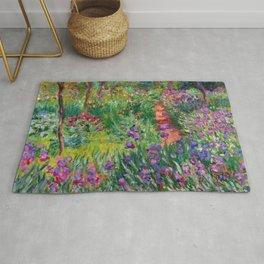 """Claude Monet """"The Iris Garden at Giverny"""", 1899-1900 Rug"""