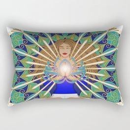 Divine Spark Mandala Rectangular Pillow