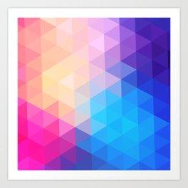 pink  triangles design Art Print
