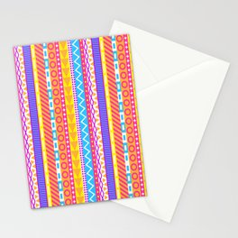 Ornate Pastel Stripes Stationery Cards