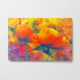 Floral abstract 95 Metal Print