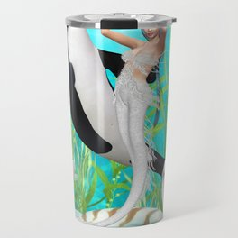 The Mermaid Dance With An Orca Travel Mug