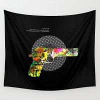 gun Wall Tapestries featuring gun #2 by BUBUBABA