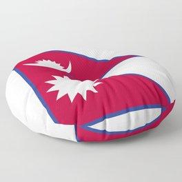 Nepal flag emblem Floor Pillow