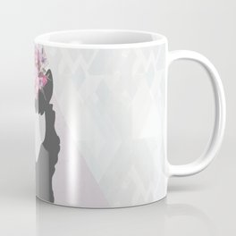 The Holy Llama Floral Geometric (white) Coffee Mug