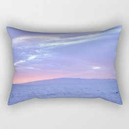 Rose Quartz and Serenity sunset. Rectangular Pillow