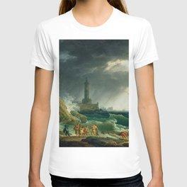 Joseph Vernet - A Storm on a Mediterranean Coast T-shirt