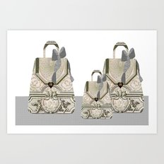 Parisian Handbags Art Print