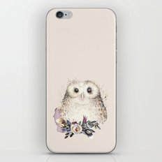 Boho Illustration- Be Wise Little Owl iPhone Skin
