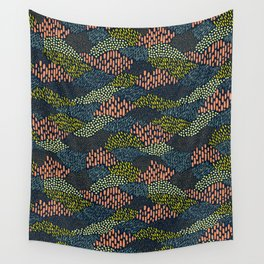 Dashes and dots // abstract pattern Wall Tapestry