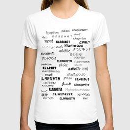Clarinanguages White T-shirt