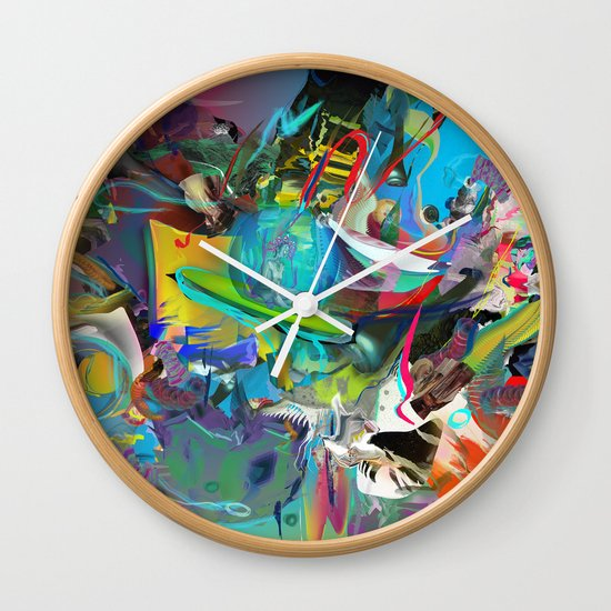 Microcrystalline Tendrils Wall Clock