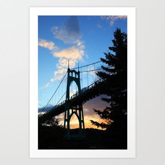 St Johns Bridge. Art Print