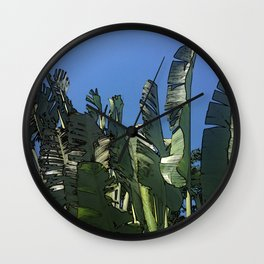 Dominican Palms Wall Clock
