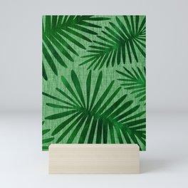Emerald Retro Nature Print Mini Art Print