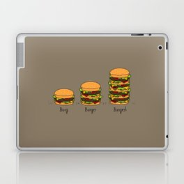 Burger explained. Burg. Burger. Burgest. Laptop & iPad Skin