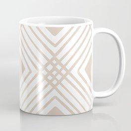 Criss Cross Diamond Pattern in Tan Coffee Mug