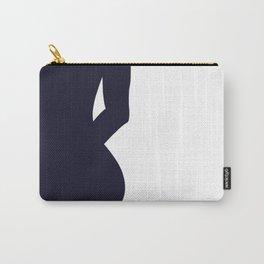 Nude silhouette figure - Nude blue 001 Carry-All Pouch