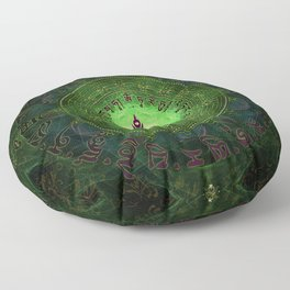Green Tara Mantra- Protection from dangers and suffering Floor Pillow