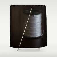 sewing Shower Curtains featuring Sewing 2 by Heartland Photography By SJW