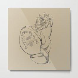 Art Study (the boot) Metal Print