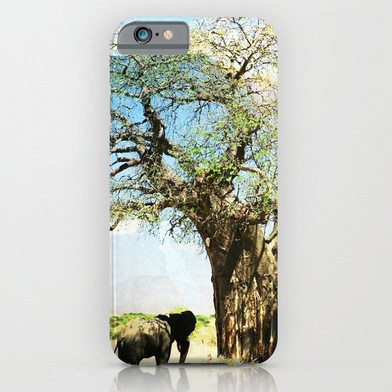 Finding an old friend - elephant in the wild iPhone & iPod Case