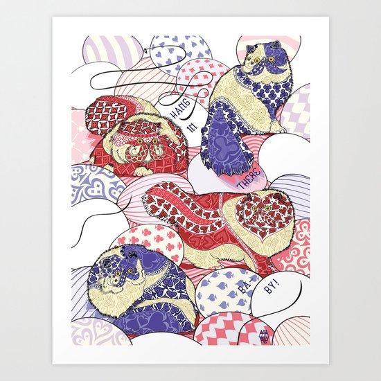 Cat Card Calico Art Print