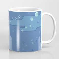 Blue Space Bubbles (8bit) Mug