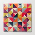 Bright Geometric Happy Pattern by tobefonseca