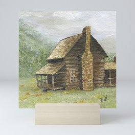 Log Cabin in Smokies Mini Art Print