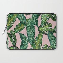 Jungle Leaves, Banana, Monstera II Pink #society6 Laptop Sleeve