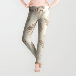 Geometric Eye Pattern in Neutral Colors Leggings
