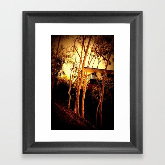 sunset mystery Framed Art Print