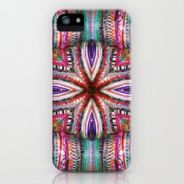 number 323 multicolored purple green red yellow iPhone Case